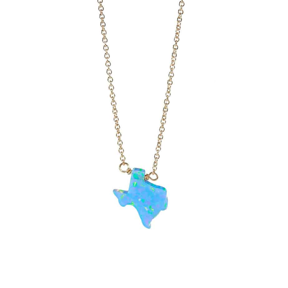 16 Elite Chain Necklace With Blue Opal Texas 70368
