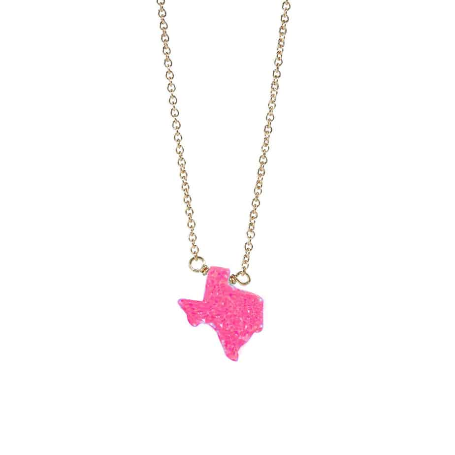 16 Elite Chain Necklace With Hot Pink Opal Texas 70371