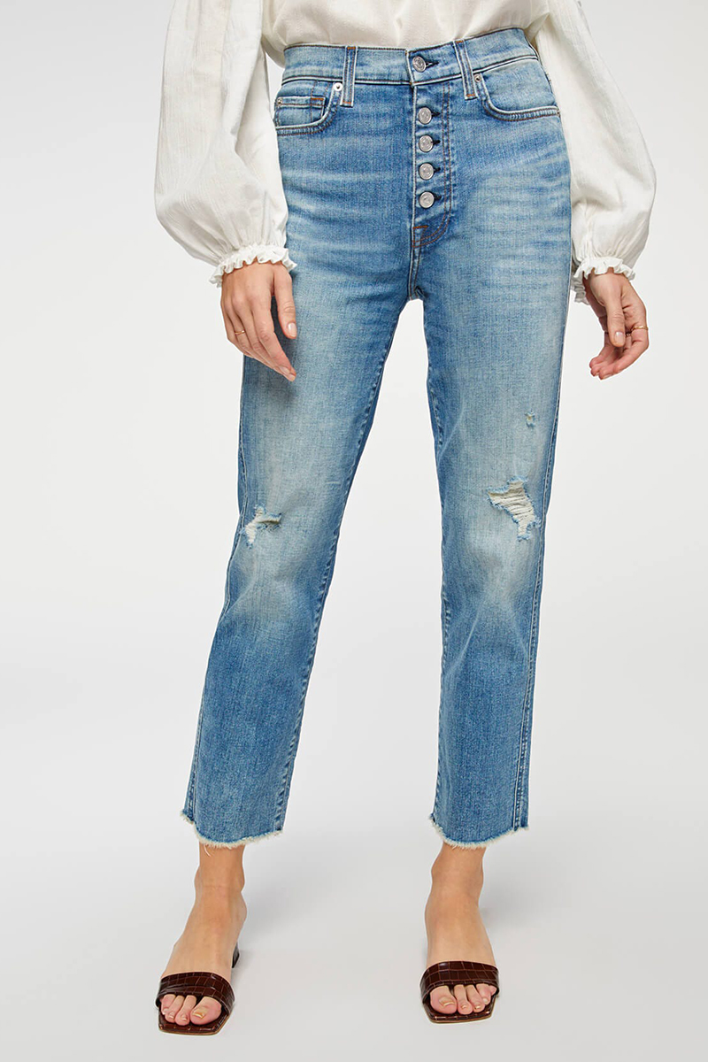 7 for all mankind hw crop straight aquarius with fryed hem 96439