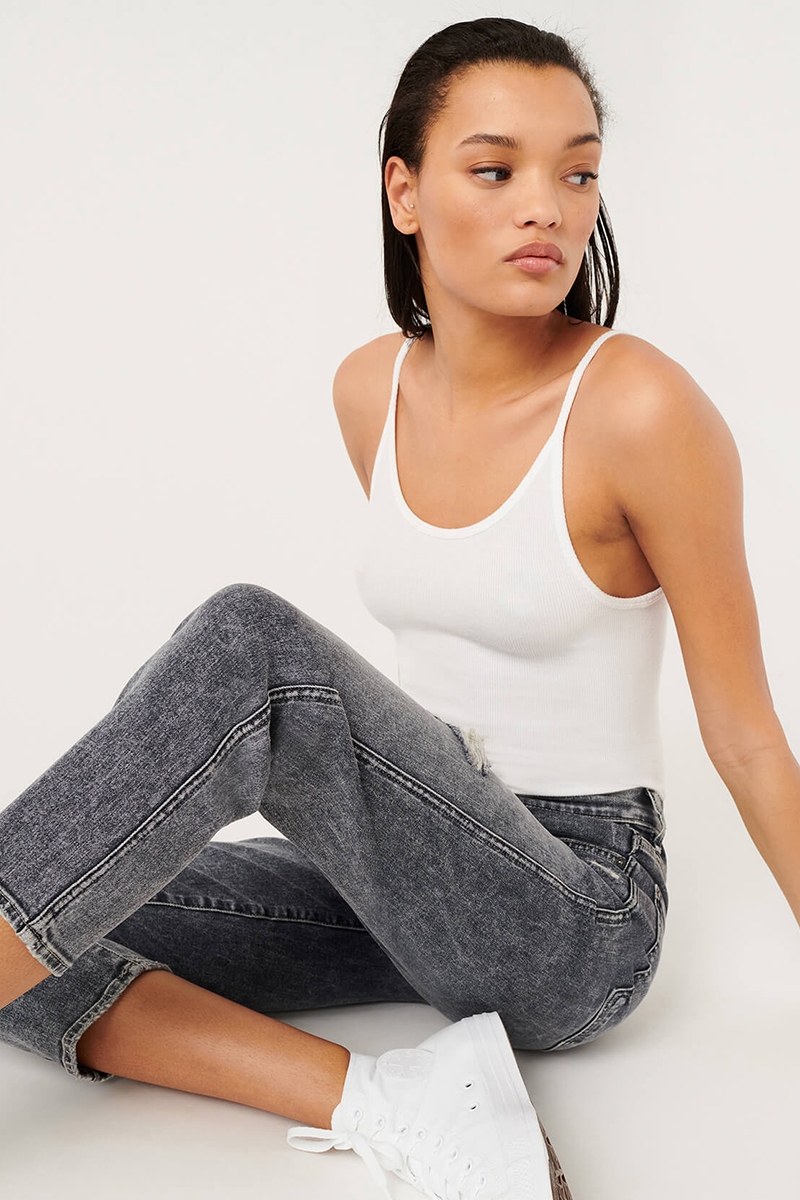 7 for all mankind hw crop straight jean in dusk 92900