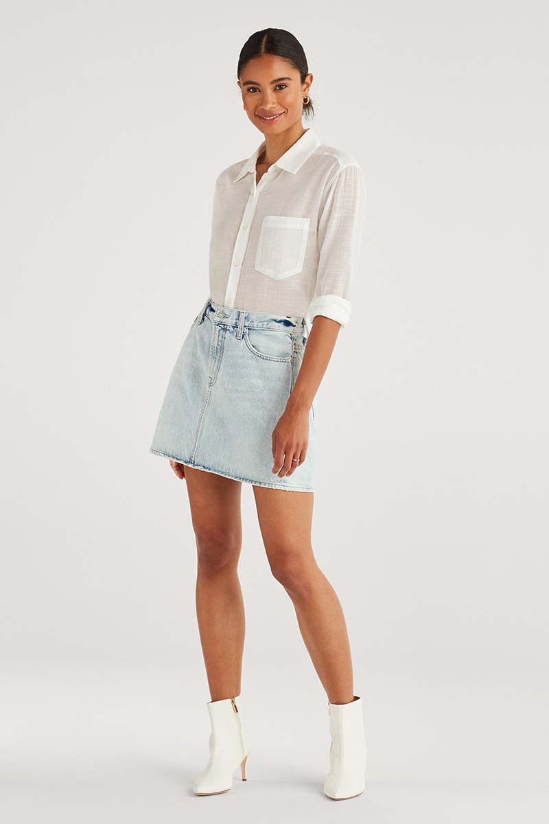 7 For All Mankind Mini In Cloud 41765