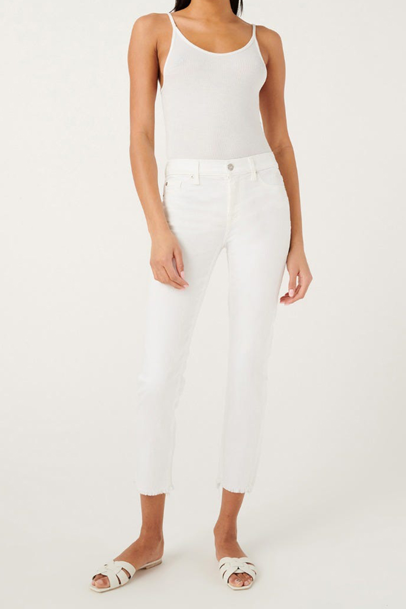 7 for all mankind roxanne in white fashion ankle 89243