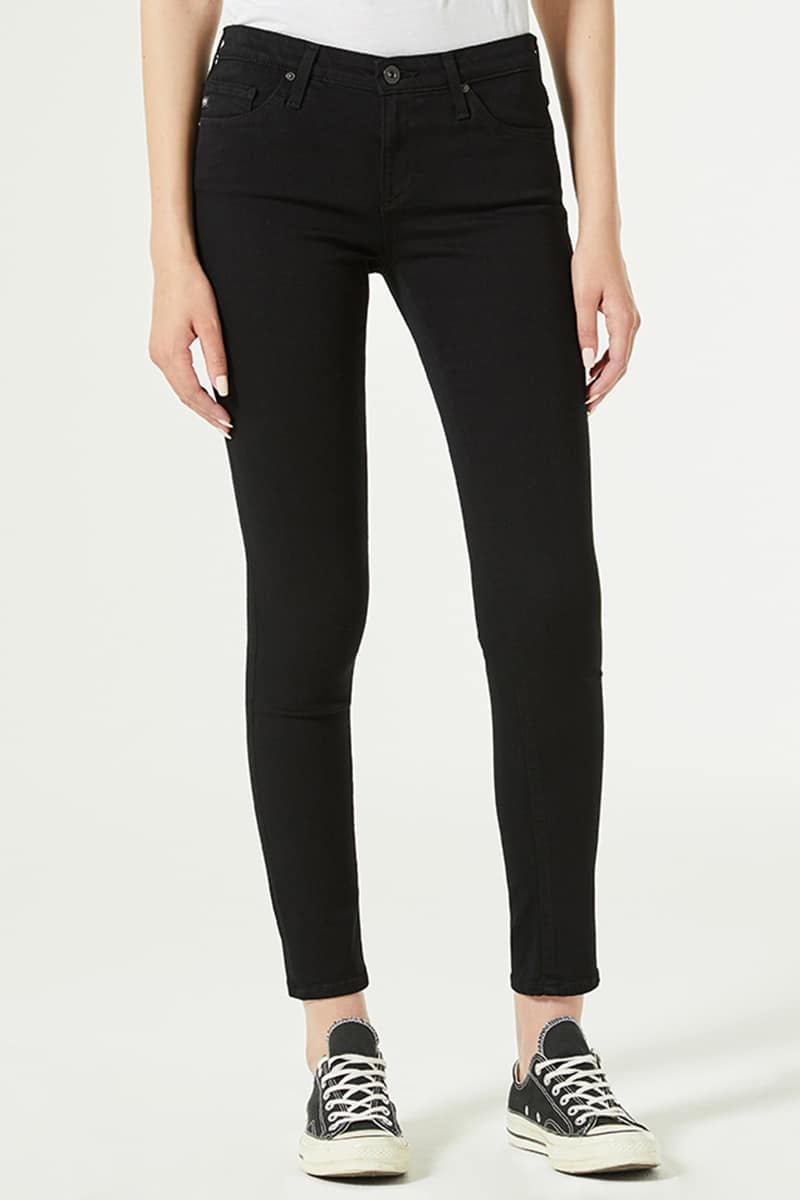Ag Jeans Farrah Skinny In Super Black 73769
