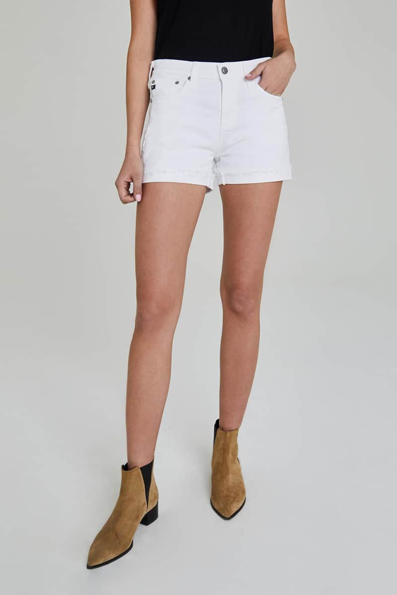 Ag Jeans Hailey Cut Off In Optic White 65339