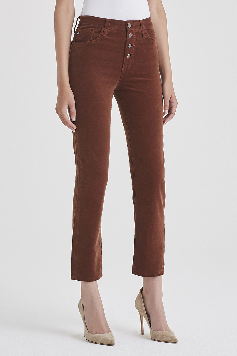 Ag Jeans Isabelle Button Up Pant In Dusty Auburn 65337