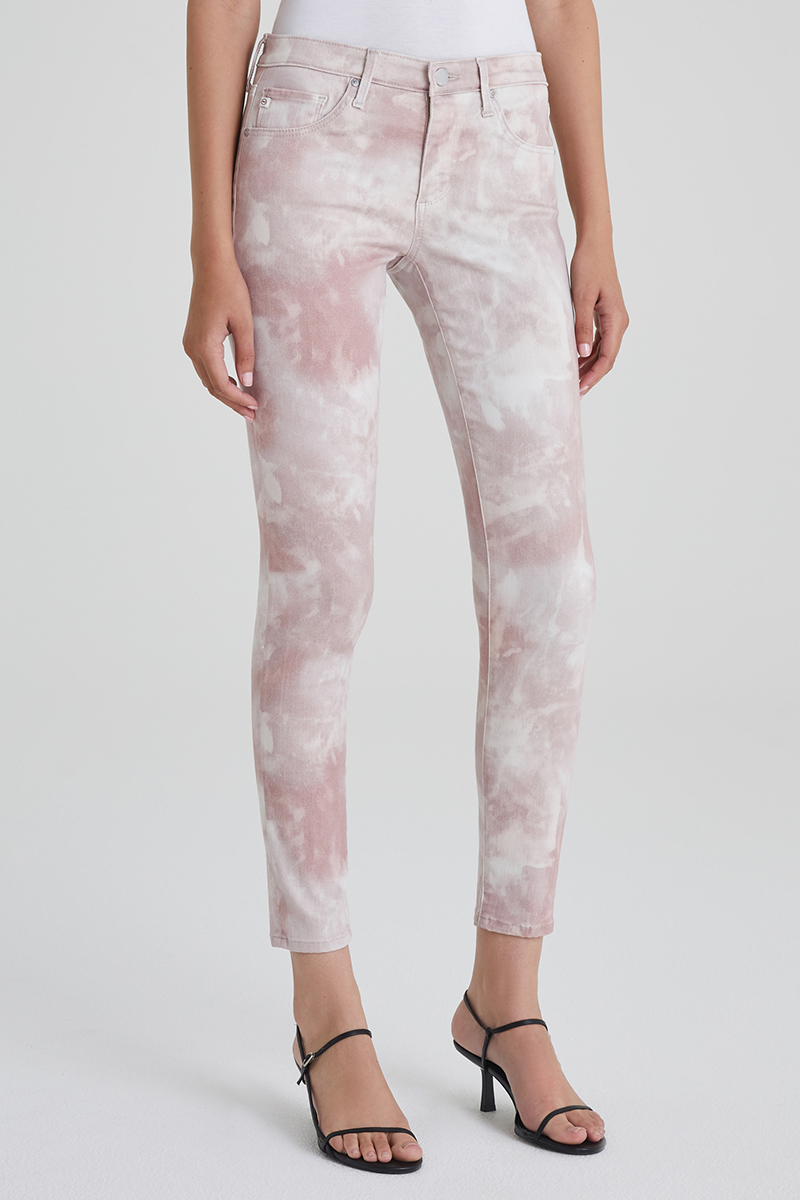 Ag Jeans Legging In Abstract Tie Dye Rocky Mauve 65343