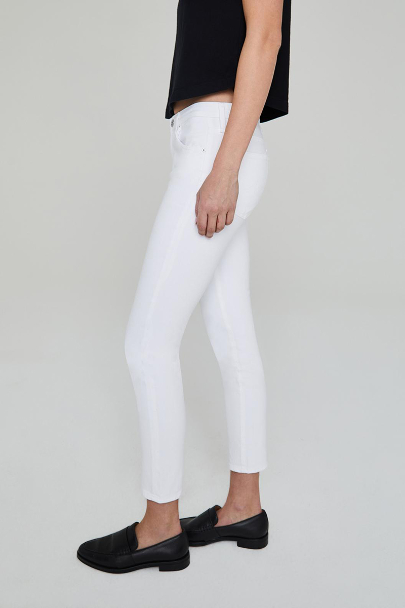 Ag Jeans Prima Ankle Jean In White 62849