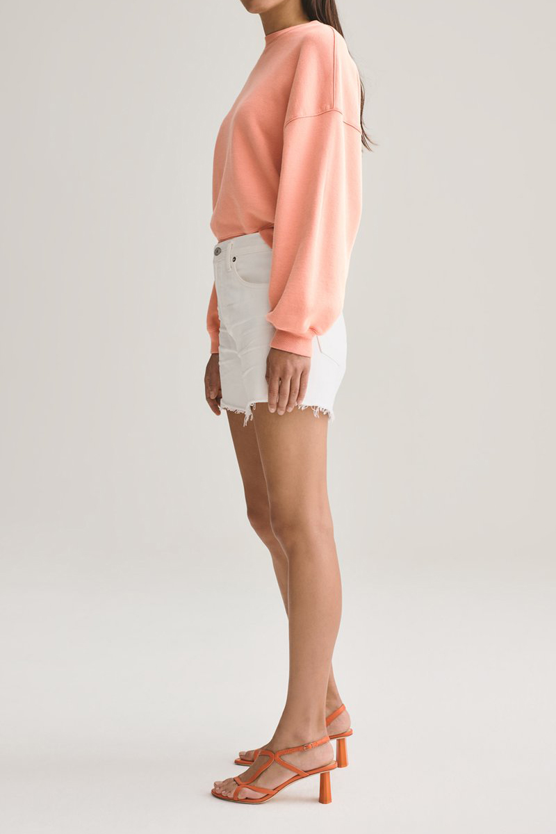 Agolde 100 Cotton Reese Cut Off In Tissue 65426