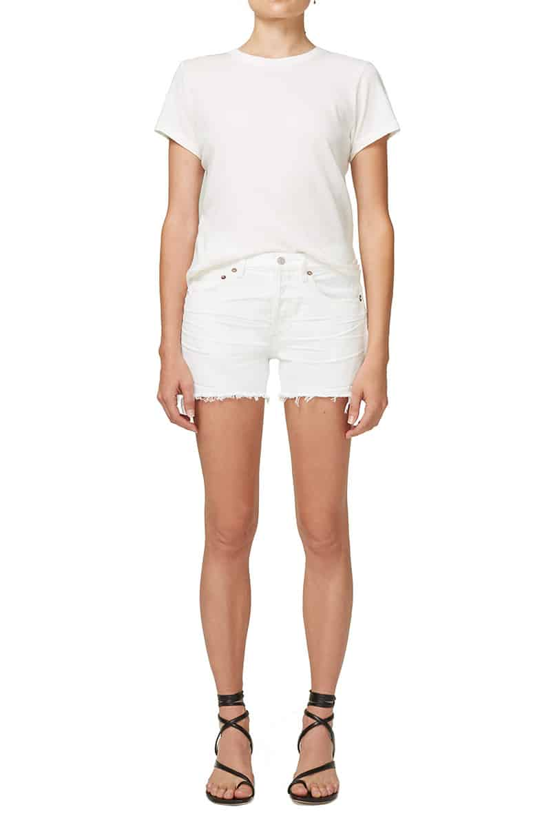 Agolde Parker 100 Organic Cotton Tissue Cut Off Shorts 61687