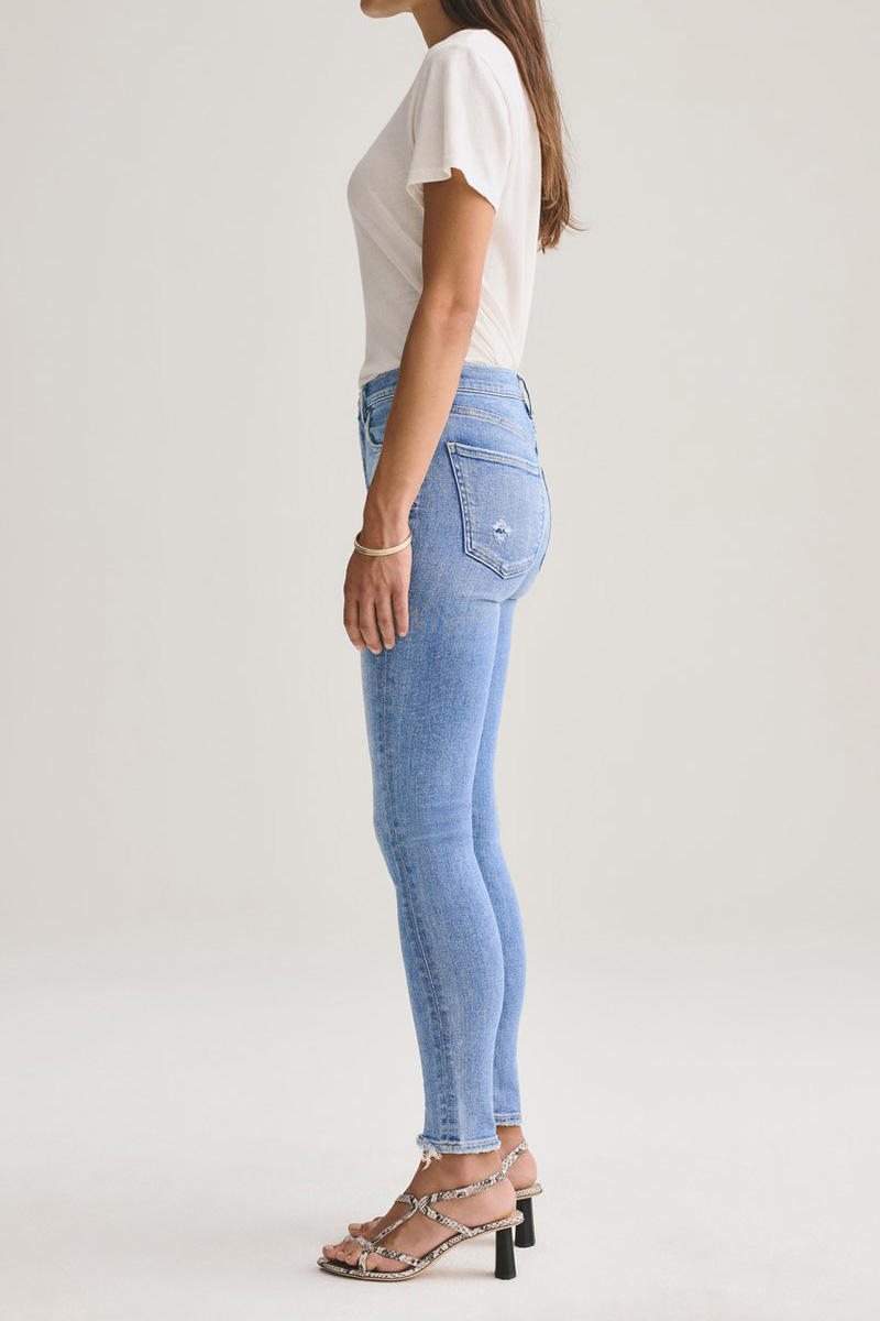 Agolde Sophie Mid Rise Ankle Jean In Saltwater 61691