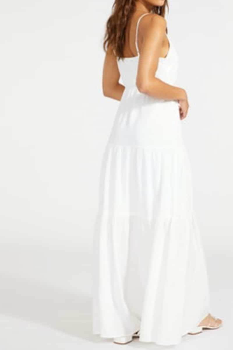 bb dakota been so long maxi dress in ivory 83453