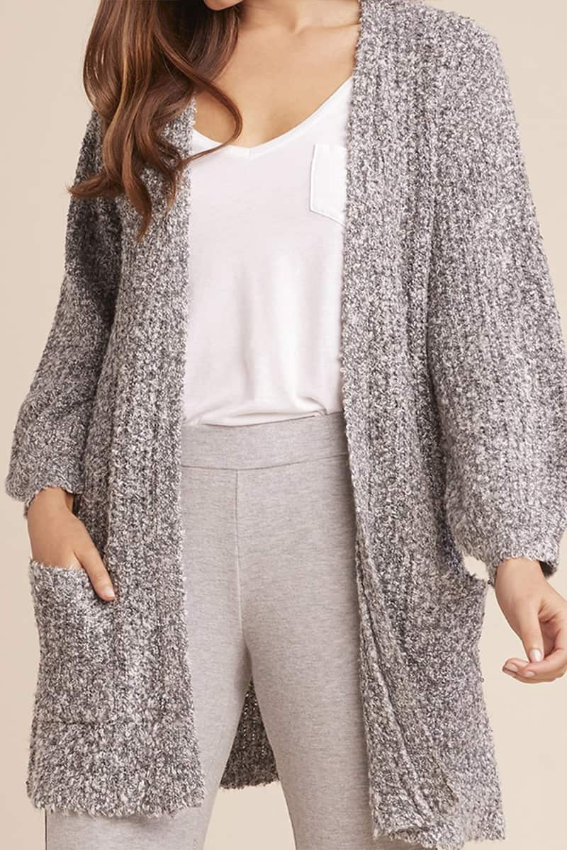 Bb Dakota Coffee Date Oversized Cardigan In Heather Grey 50789