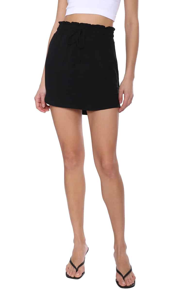 bb dakota its casual skirt in black 83646