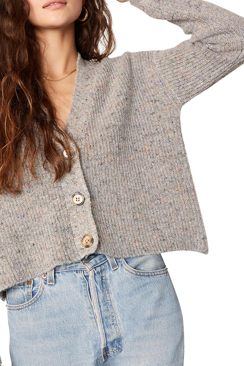 Bb Dakota Speckle Agent Heather Grey Sweater 72086