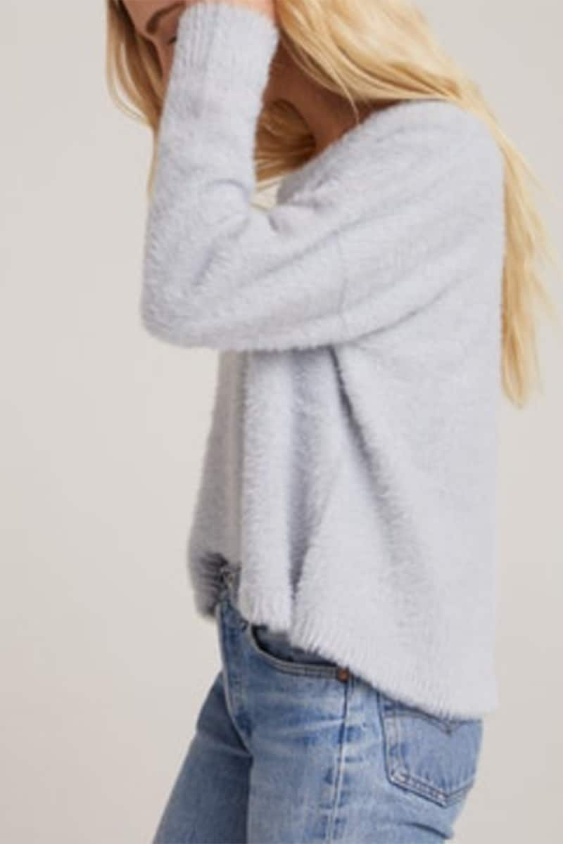 Bella Dahl Slouchy Grey Sweater 74604