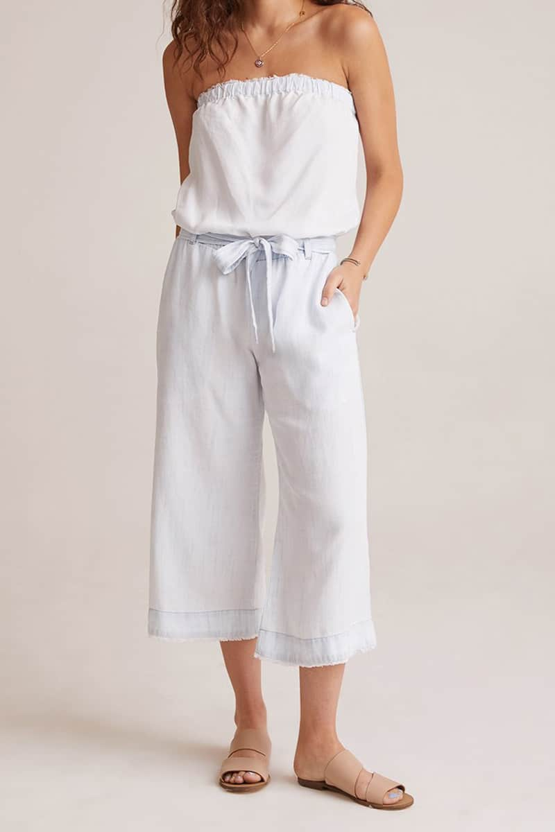 Bella Dahl Strapless Romper In White Out 61910