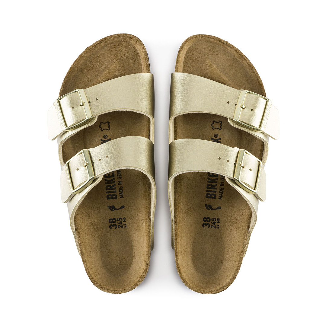 Birkenstock Arizona Birko Flor In Gold 63468
