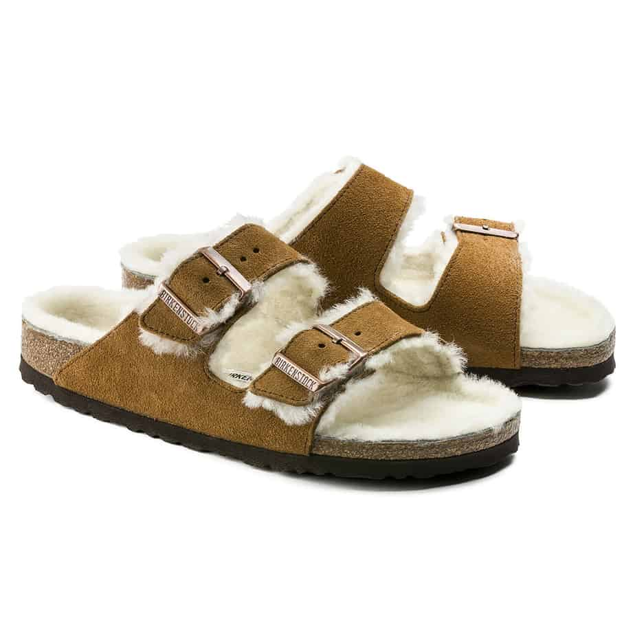 Birkenstock Arizona Sherling In Mink 72219