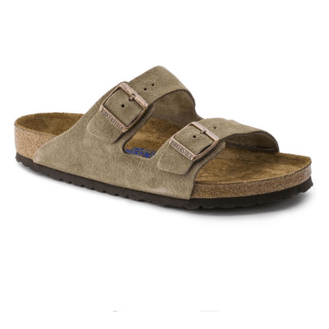 Birkenstock Arizona Soft Foot Bed In Taupe Suede 63501