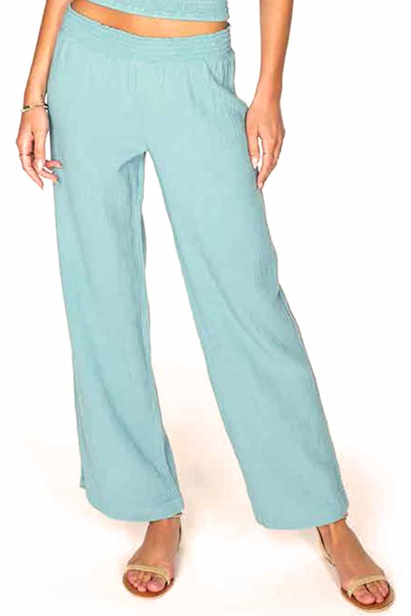 Bobi La 100 Cotton Gauze Beach Pant In Surf 61849