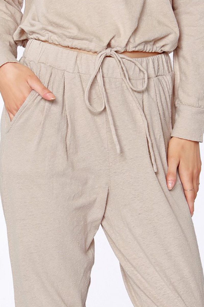 Bobi La Front Pleat Pant In Sand 80814