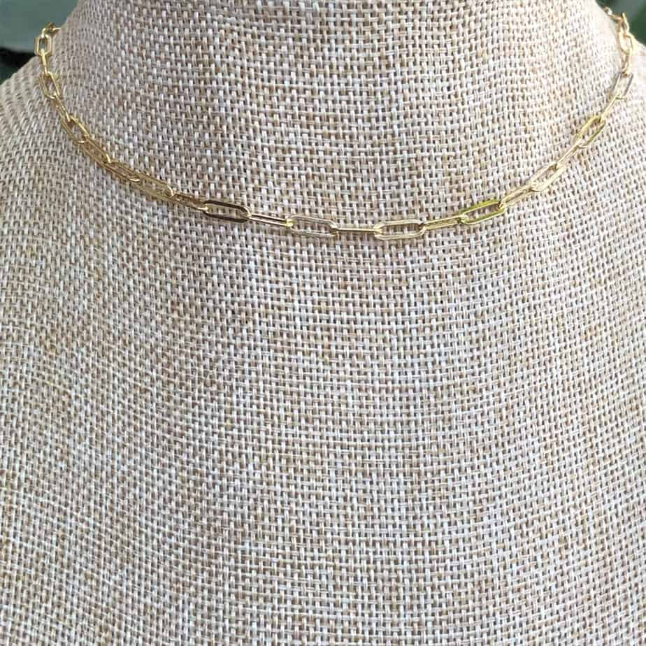 boxy layering chain necklace 89963