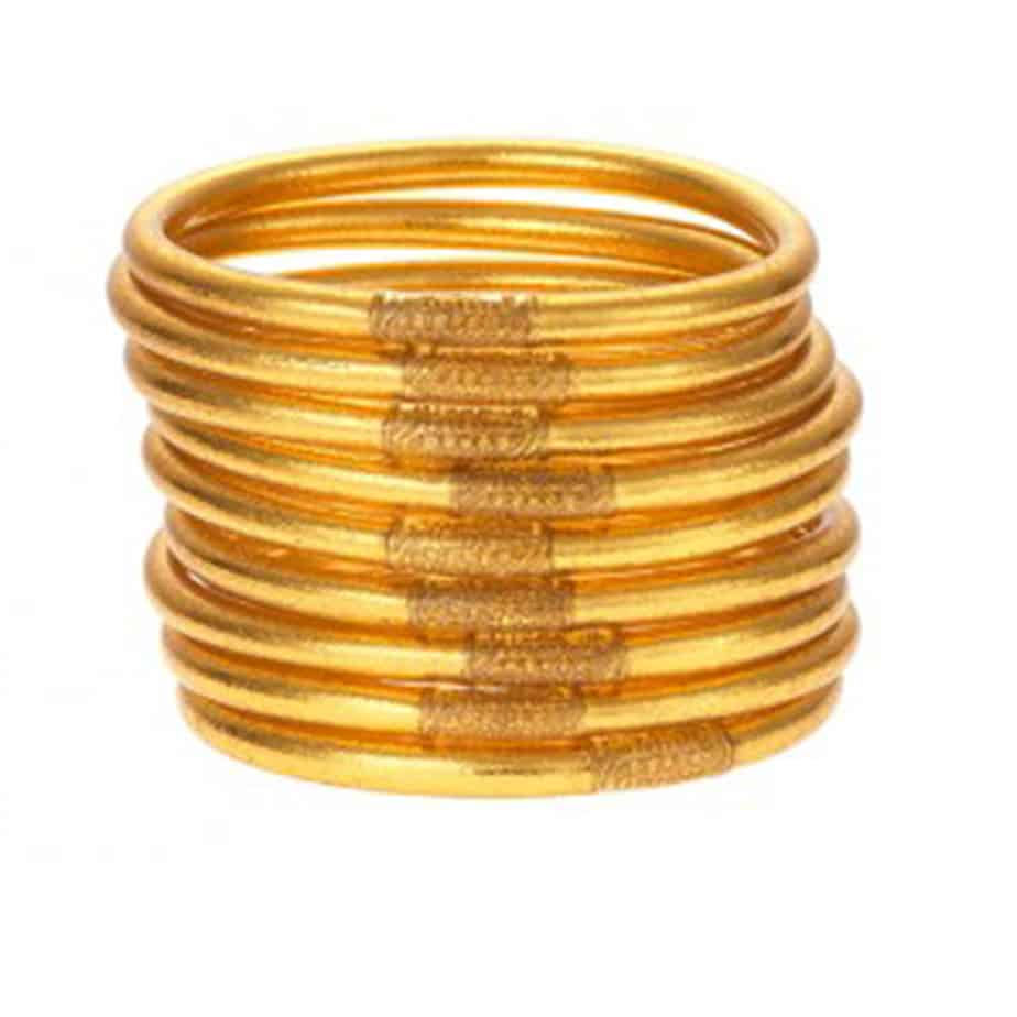 budha girl all weather bracelets set of 9 in gold size small 87854