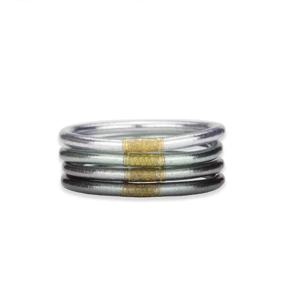 Budha Girl Set Of 4 All Weather Bangles In Moon Size Small 72045
