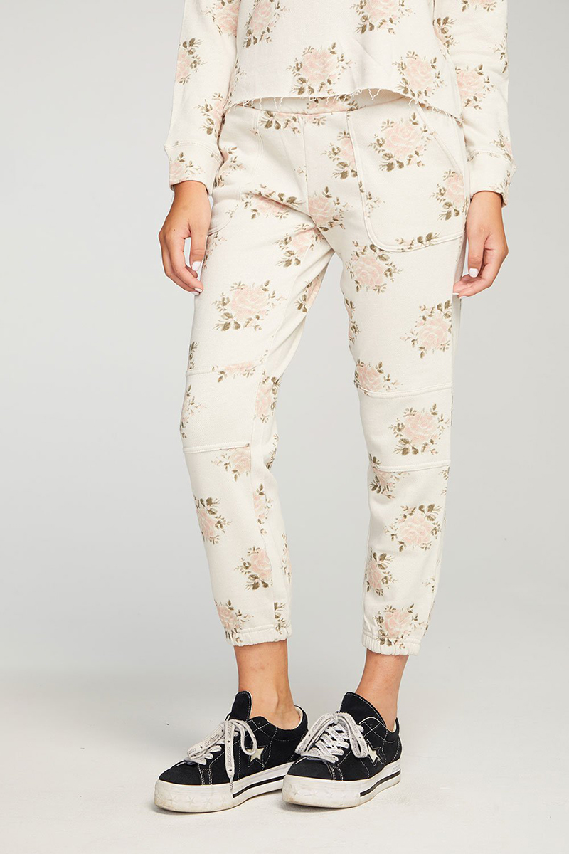 Chaser French Terry Moto Jogger In Vintage Wallpaper 80021