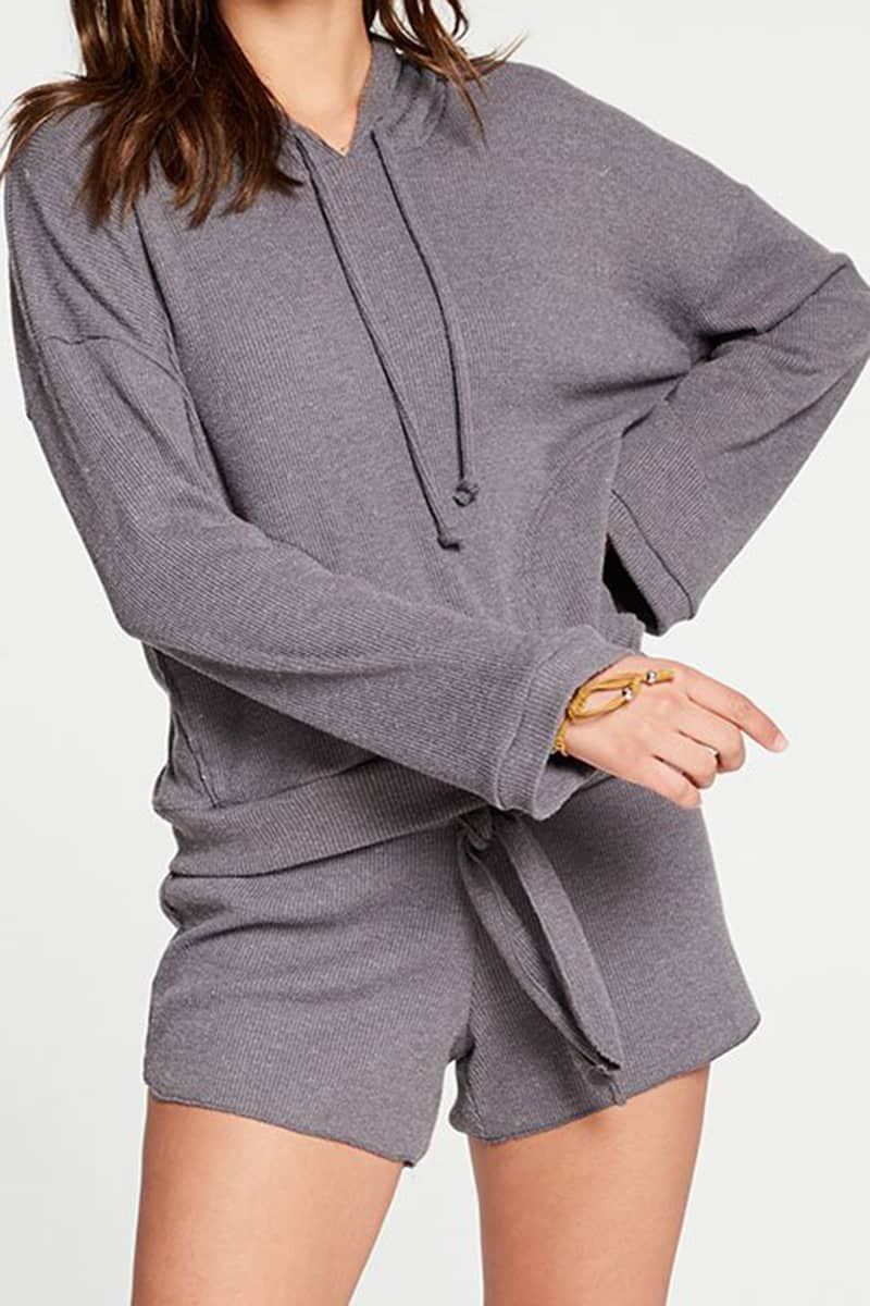 Chaser Ls Cropped Hoodie In Galaxy 74125