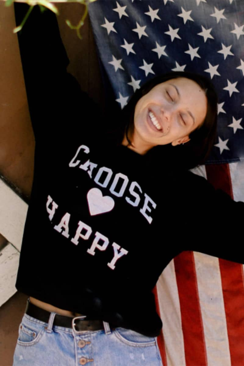 Choose Happy Sweatshirt In Black 71927