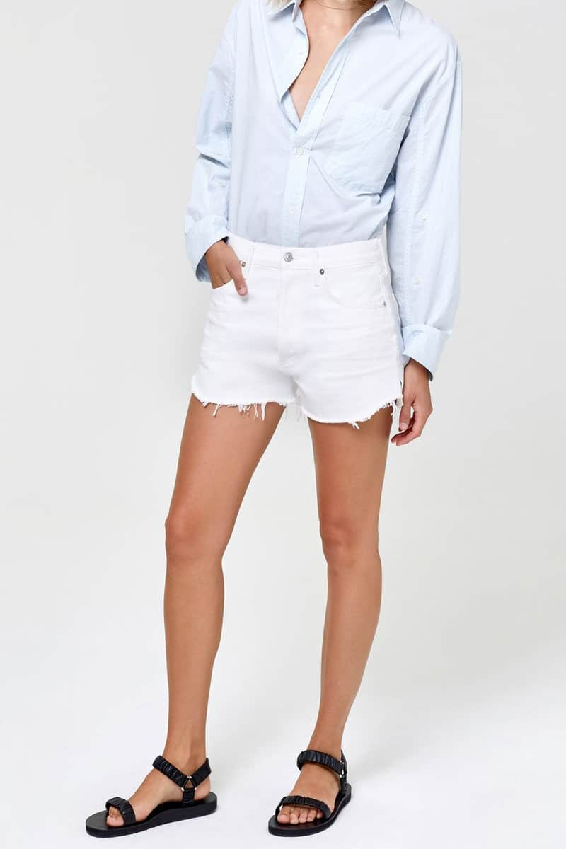 citizens of humanity annabelle short in white 83682