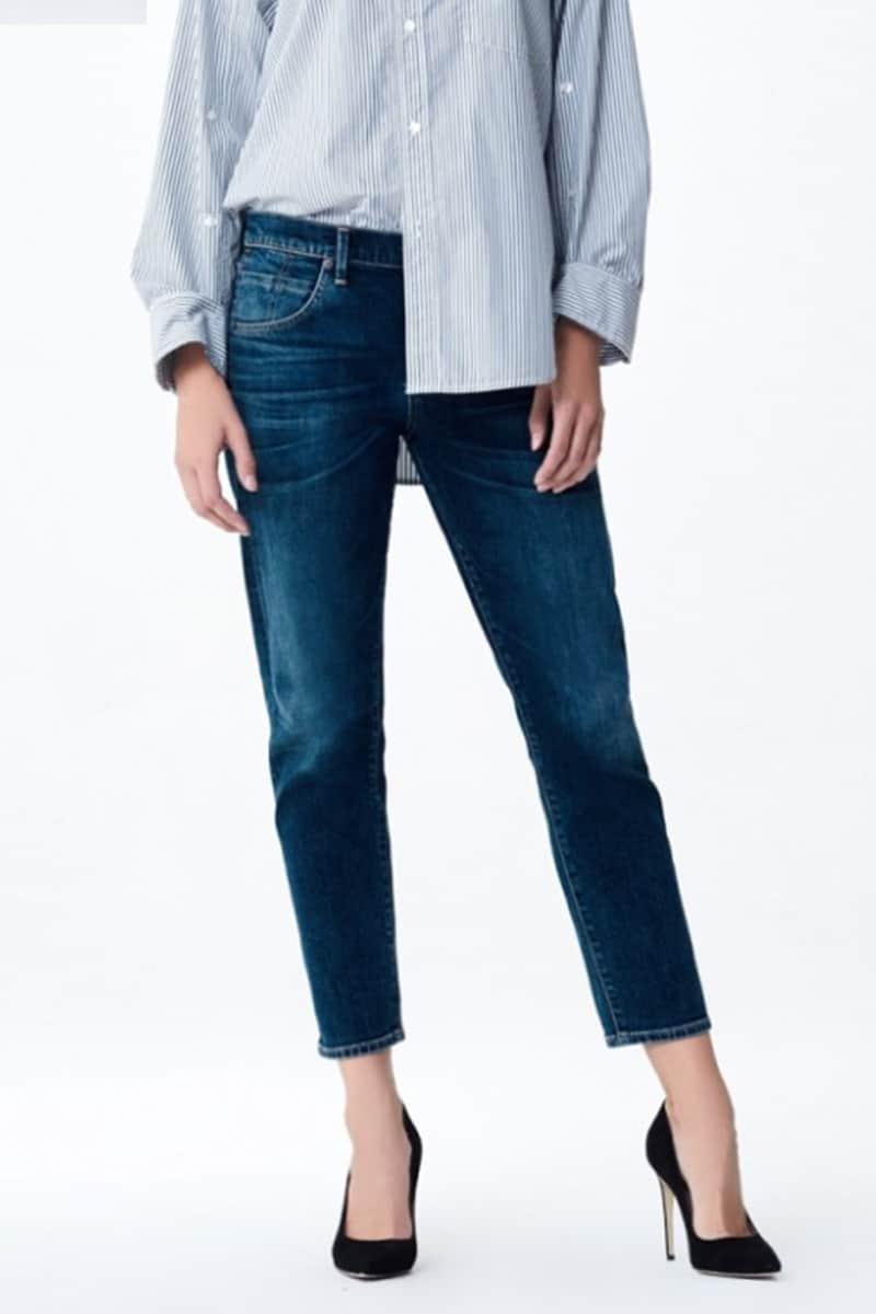 Citizens of Humanity Elsa Mid Rise Cropped Slim Leg in New Moon