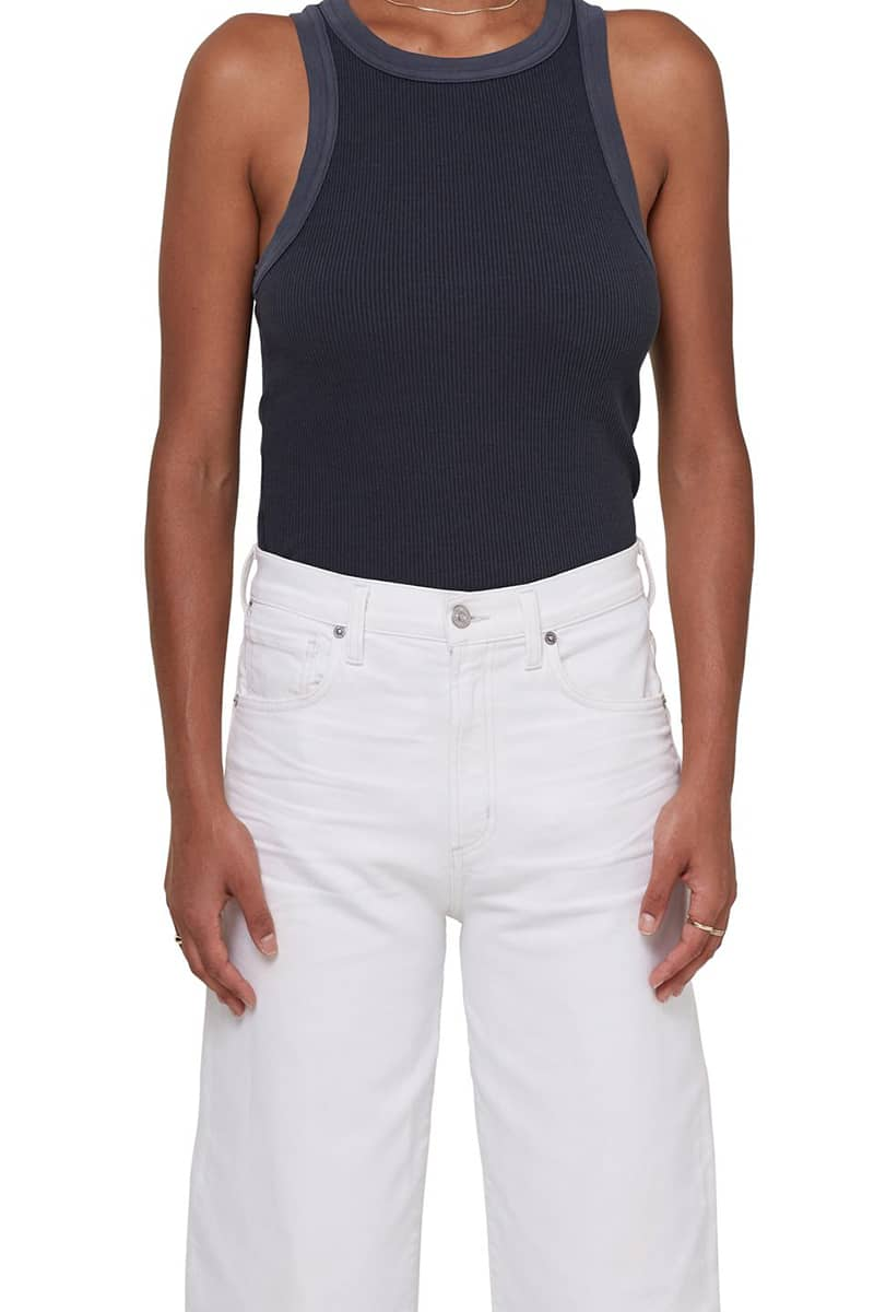 citizens of humanity isabel tank in charcoal 94162