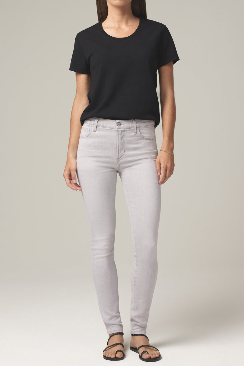 Citizens Of Humanity Rocket Crop Skinny In Grey Marble 62701