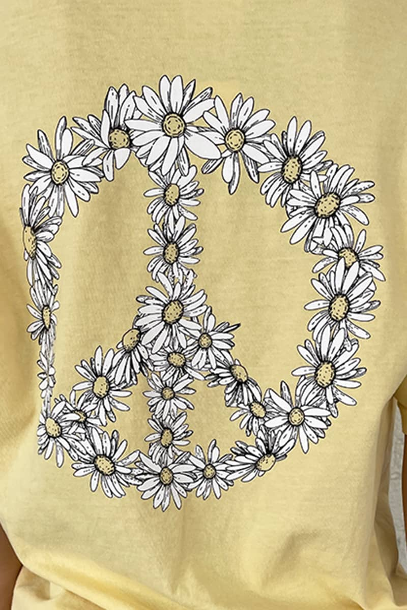 cotton island ss daisy tee in butter 87602
