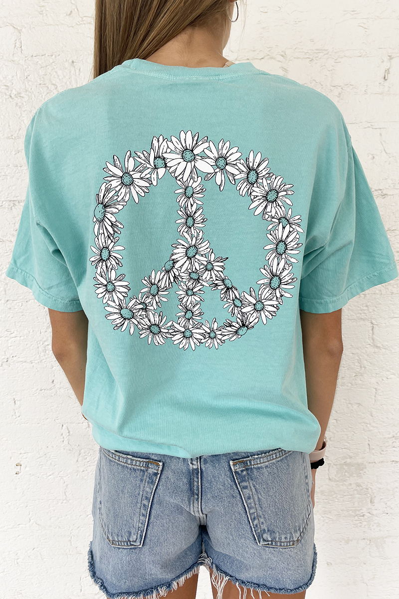 cotton island ss daisy tee in chalky mint 87605