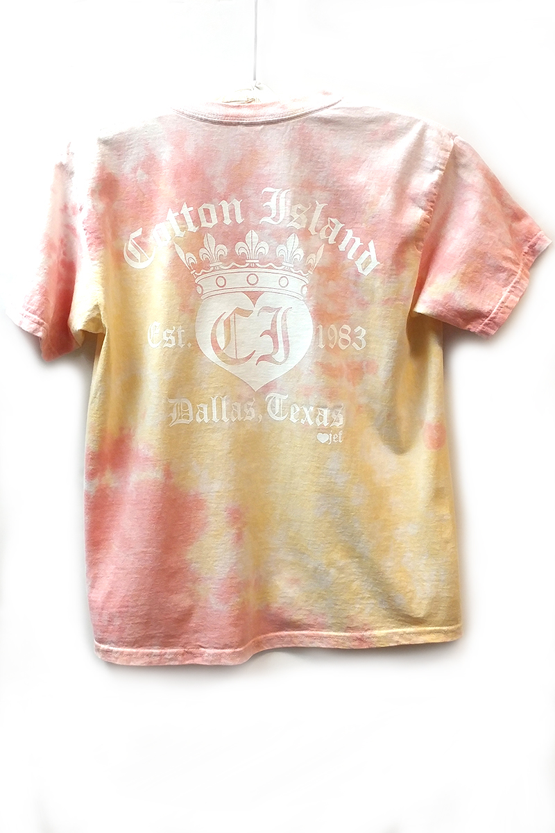 Cotton Island Ss Tie Dye Tee In Funnel Cakewhite 72910