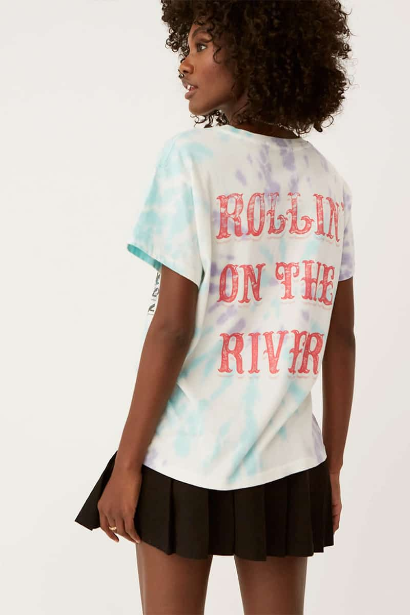 Daydreamer 100 Cotton Ccr On The River Tour Tee Spiral Tie Dye 70641