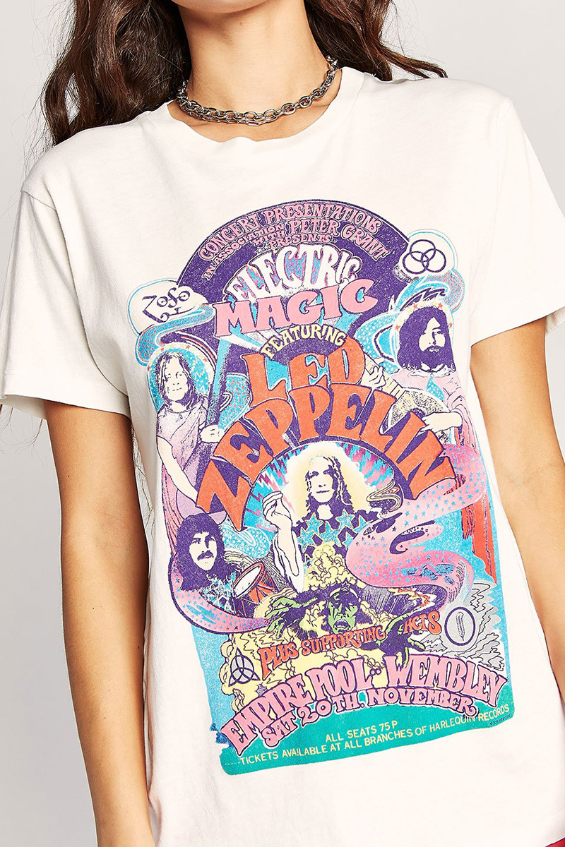 Daydreamer 100 Cotton Led Zeppelin Electric Magic Weekend Tee 61541