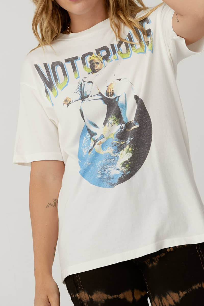 Daydreamer 100 Cotton Notorious Big Top Of The World Weekend Tee 75694
