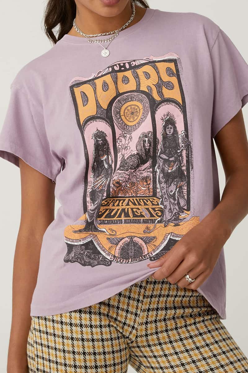 Daydreamer 100 Cotton The Doors Concert Poster In Dusty Orchid 80354
