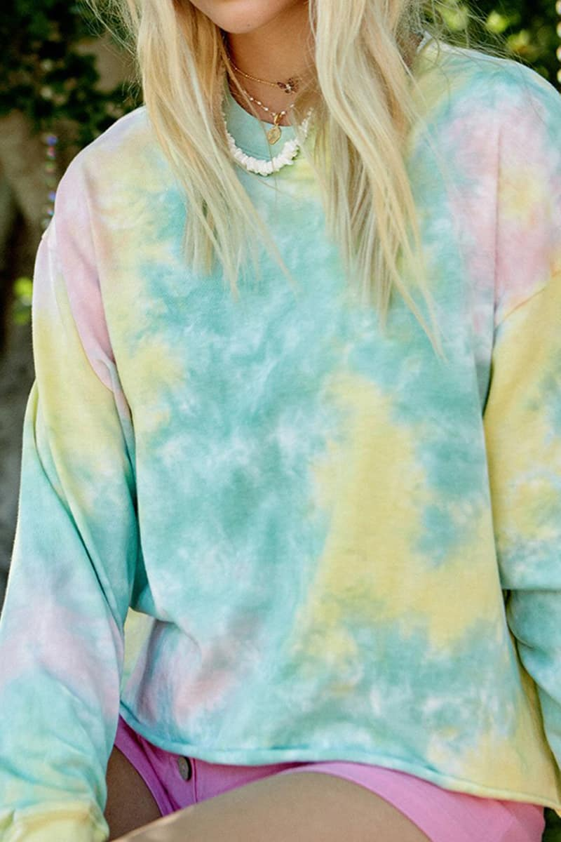 Daydreamer Tie Dye Ls In Lily Pad 59984