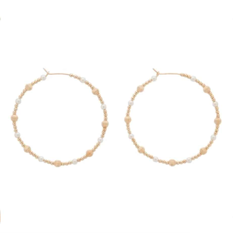 Dignity 1 75 Hoop With Gold Beads And Pearls 68717