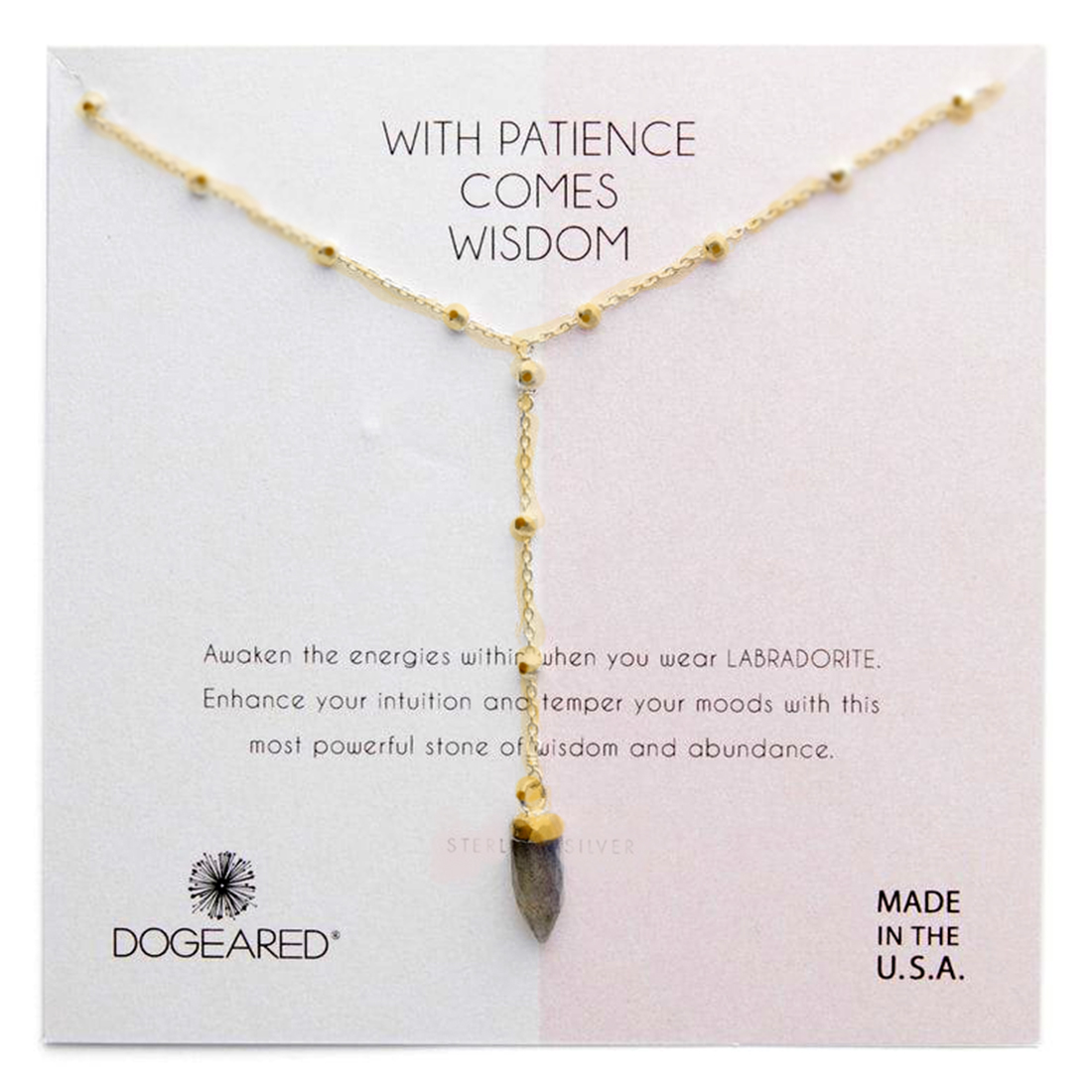 dogeared with patience labradorite necklace 86203