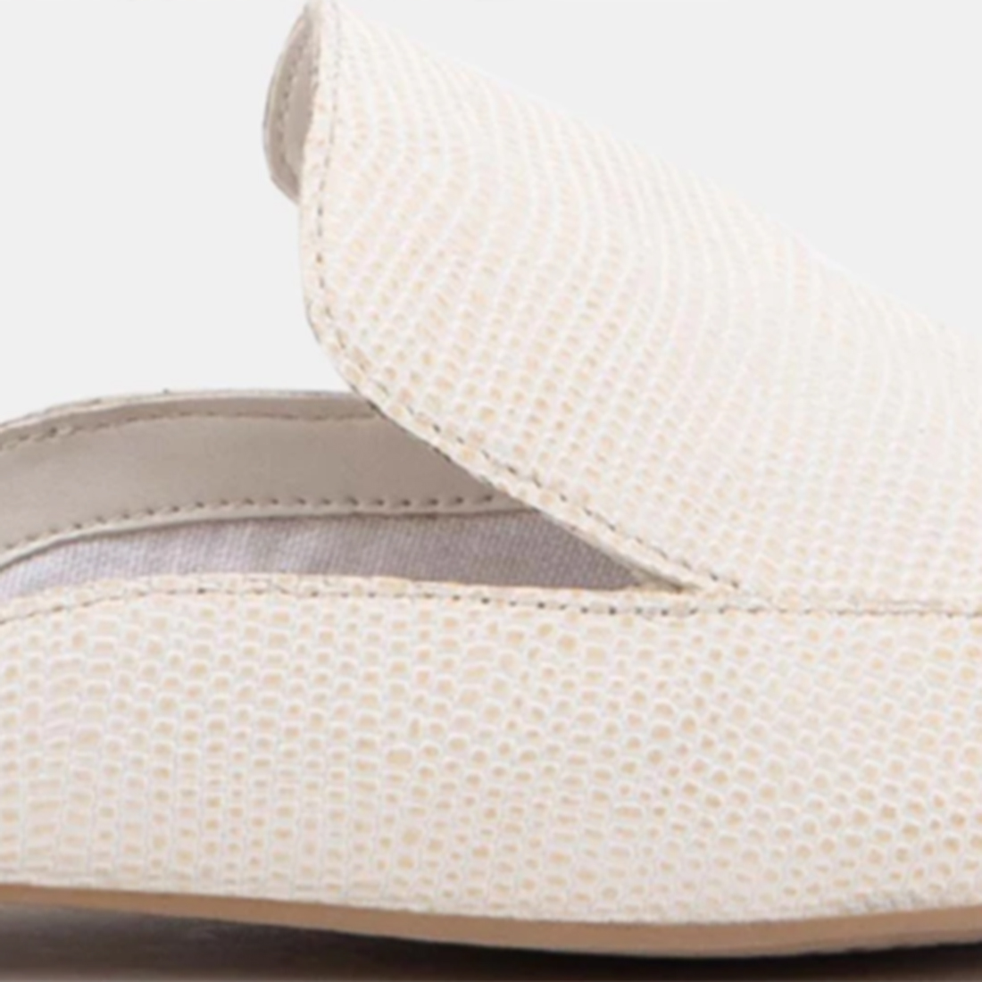 Dolce Vita Halee White Embossed Lizard Slide 62220