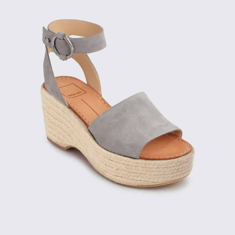 7449338dd2ff Dolce Vita Lesly Grey Rope Wedge Sandal • Cotton Island Women s ...