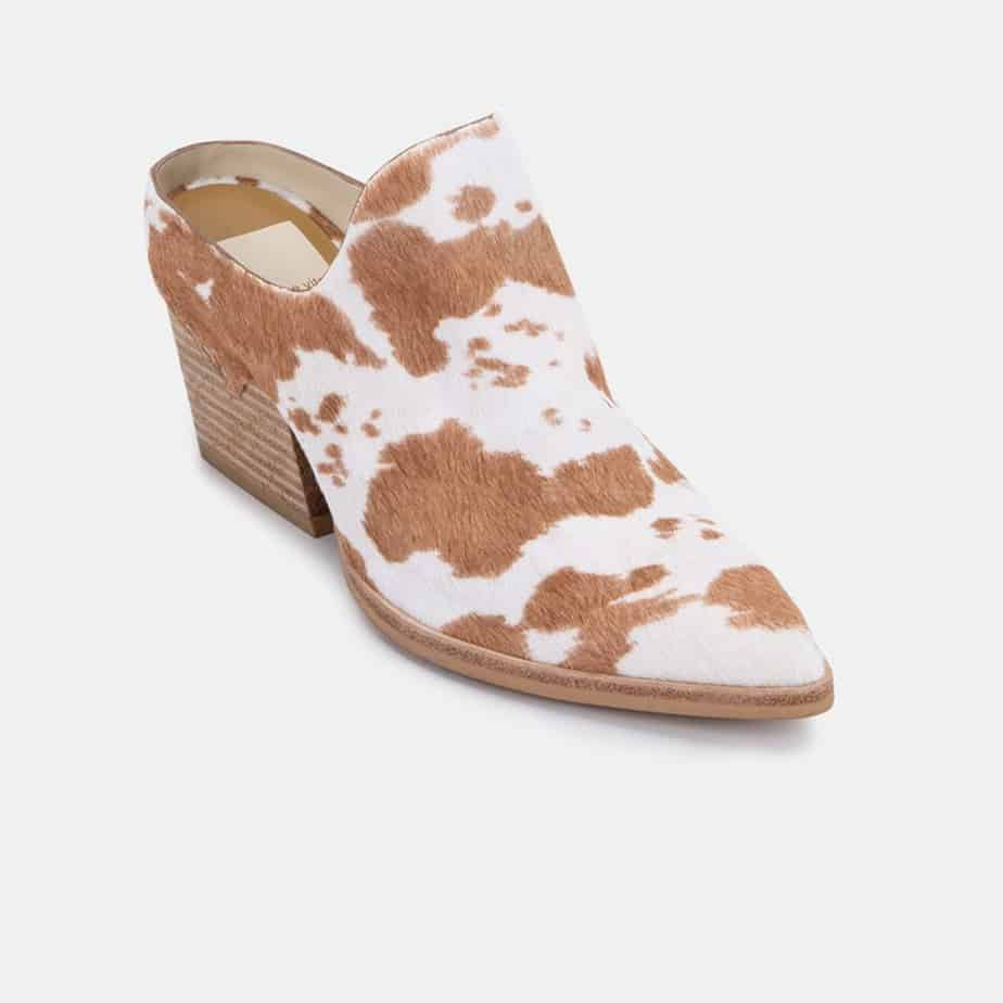 Dolce Vita Lindsy Calf Hair Mules In Tan Taurus 72392