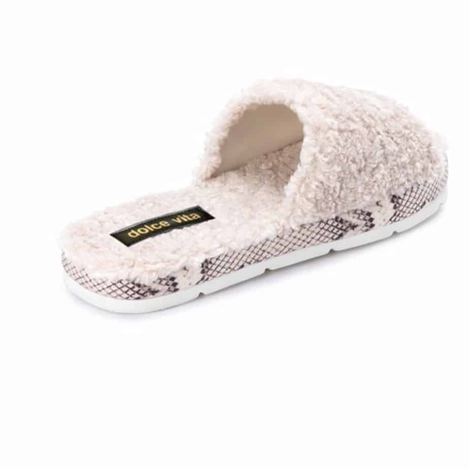 Dolce Vita Mochi Slippers In Off White Plush 74031