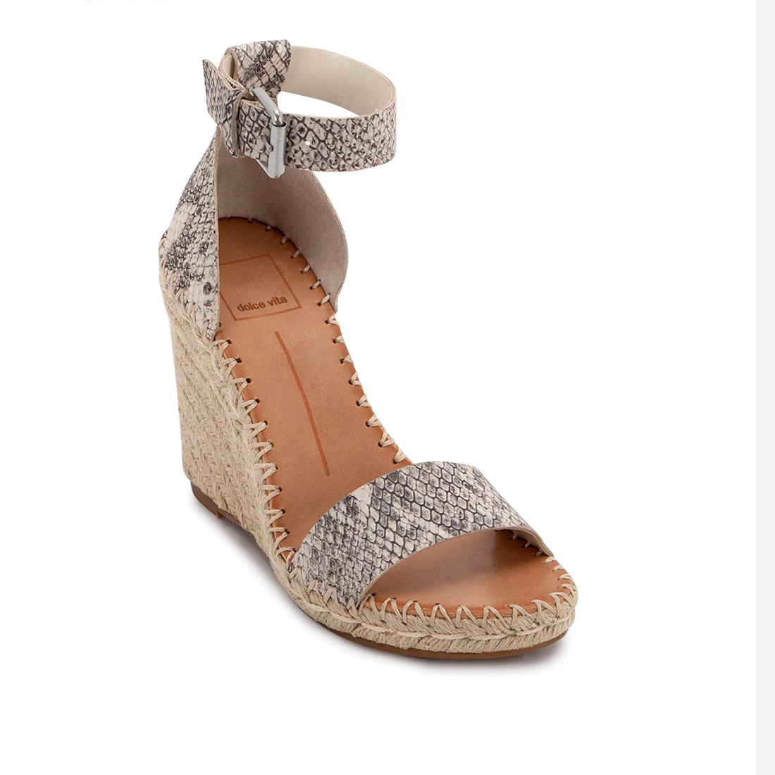 Dolce Vita Noor In Stone Snake Print Leather 62219